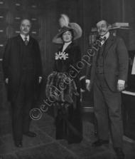 M. De Dubor,Mlle Urban et M. Lambert.Répétition de la Roussalka