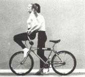 Rachel Rufer répétant pour le spectacle de l'Ecole de danse de l'Opéra de Paris en 1988