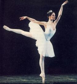 Aurélie Dupont lors du concours 1996