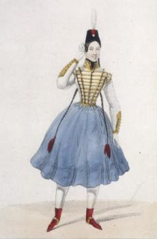 Fanny Elssler - source image : BNF