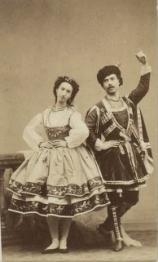 Emma Livry et Louis Mérante dans le Papillon (acte 1) - Photo : BNF/Gallica