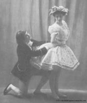 Léo Staats (rôle de Jean) et Carlotta Zambelli dans Javotte