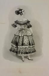 Pauline Duvernay dans la Cachucha du ballet le Diable boiteux