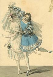 Fleur des Champs dans la Fille du Danube avec Mazilier (Rudolph)