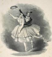 La Sylphide avec Arthur Saint-Léon dans le rôle de James