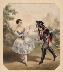 Kathy dans la Vivandière avec Arthur Saint-Léon