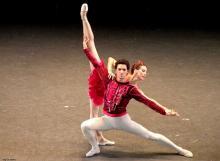 Avec Muriel Zusperreguy dans Rubis (Balanchine)