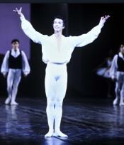 Jean-Yves Lormeau lors du défilé du corps de ballet en 1995