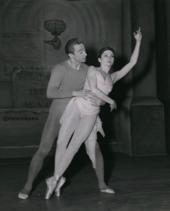 Alexandre Kalioujny et Zizi Jeanmaire en répétition.
