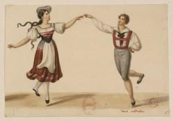 Deux danseurs dans Nathalie ou la laitière suisse (Source image : Gallica)