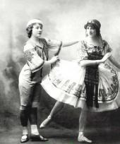 Avec Antonine Meunier dans les Deux pigeons
